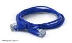 WantecWire extreme slim, round UTP Patchcord, 0,11INCH (2,8mm), CAT6, highly flexible, Color: blue, Length: 118,11INCH (3,00m)
