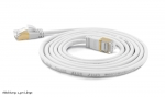 WantecWire slim, round SSTP Patchcord, 0,16INCH (4mm), CAT7 Cable, CAT6e Connectors, gold plated Contacts and Cover, Color: white, Length: 7,87INCH (20cm)